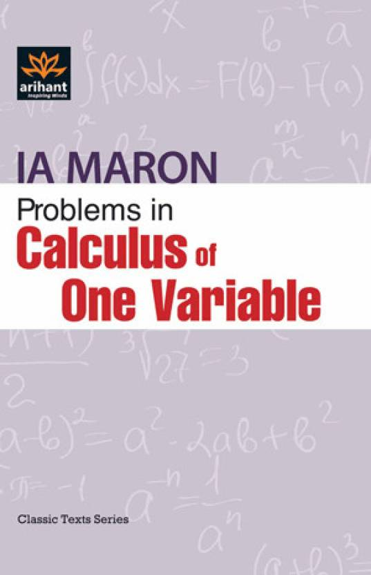 Problems in Calculus of One Variable 1st Edition 1st Edition