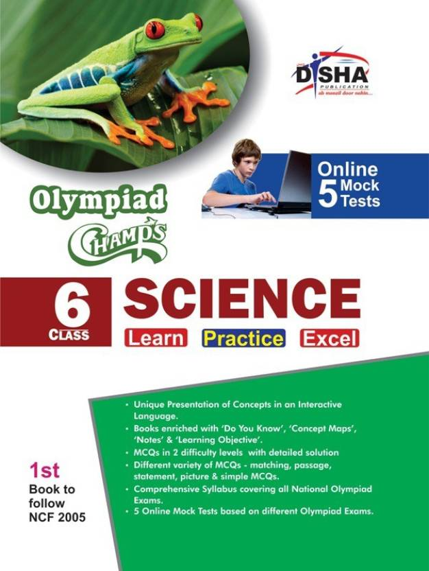 Olympiad Champs Science Class 6 with 5 Mock Online Olympiad Tests