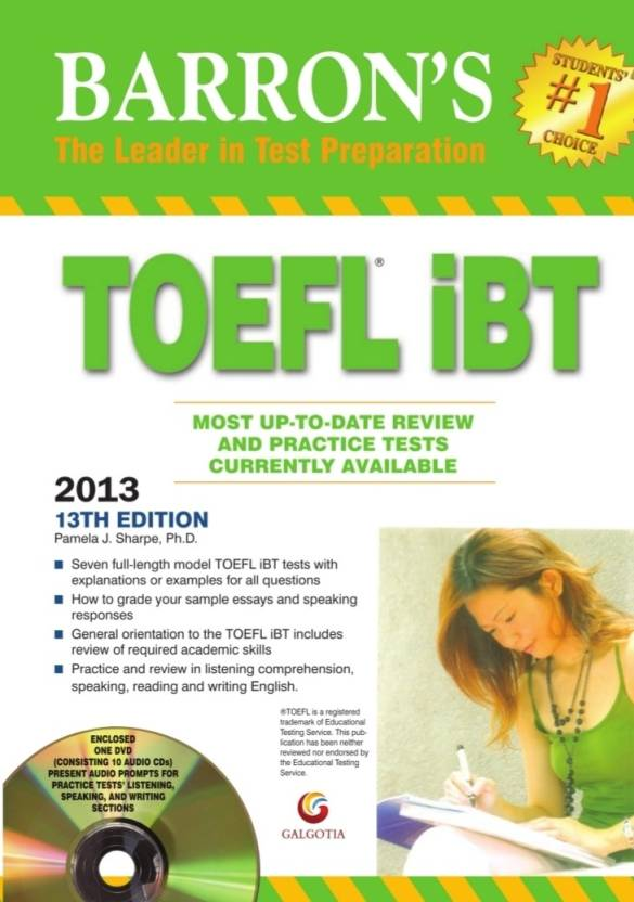 Barron's TOEFL iBT 2013 Guide (With DVD) 13th Edition