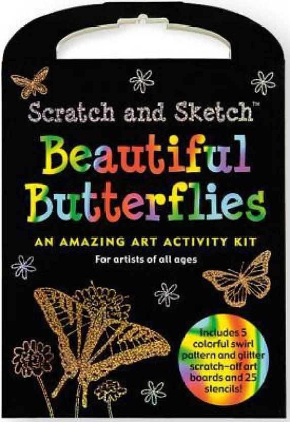 Scratch & Sketch Beautiful Butterflies Kit: Buy Scratch