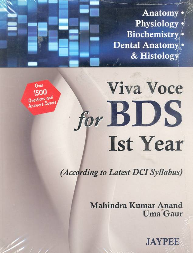 Viva Voice For BDS 1st Year: According To Latest Dci. Syllabus 1st ...