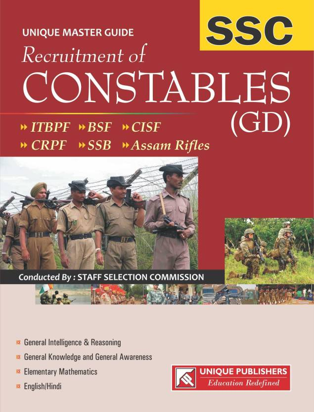 SSC Recruitment of Constables (GD): ITBPF / BSF / CISF / CRPF /