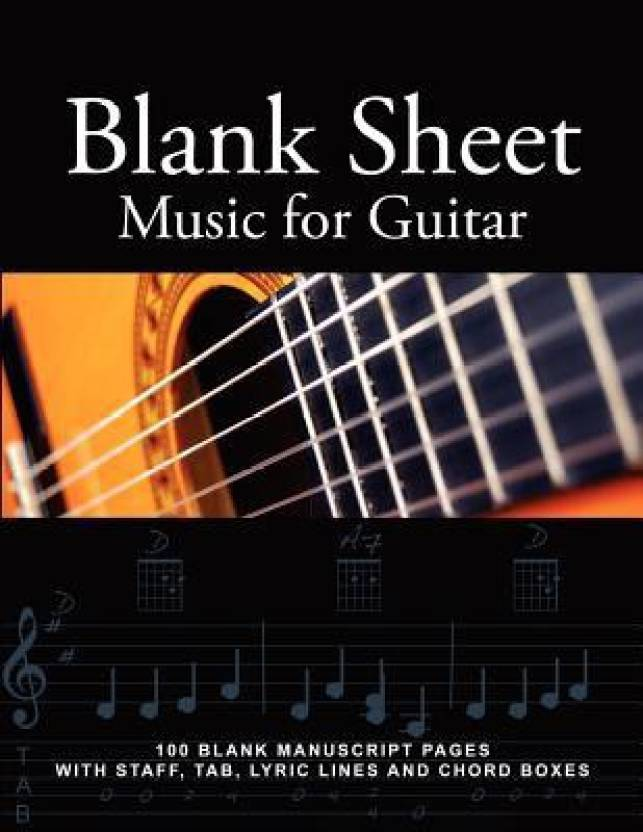 Blank Sheet Music For Guitar 100 Blank Manuscript Pages With Staff