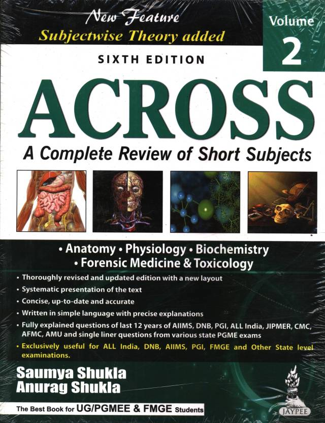 ACROSS VOL.2(A COM.REV.OF SHORT SUB) ANATOMY/PHY/BIO/FORENSIC MED. 6th  Edition