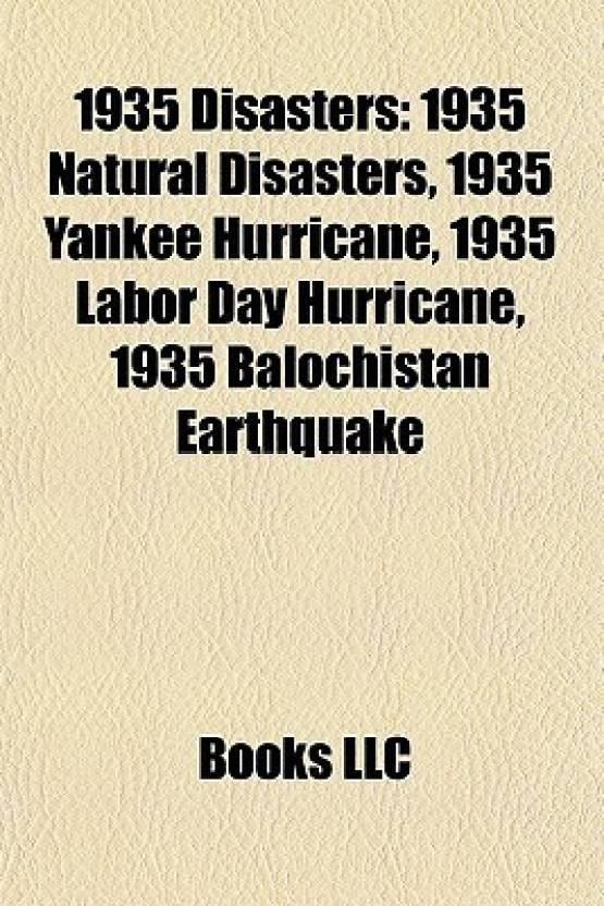 1935 Disasters 1935 Natural Disasters 1935 Yankee Hurricane 1935