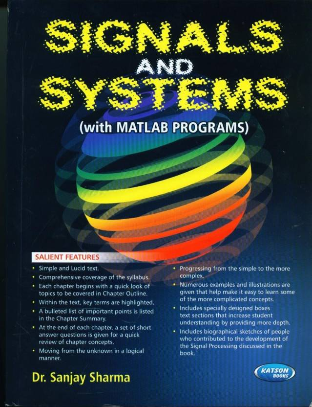 Signals And Systems (With MATLAB Programs) 1st Edition: Buy