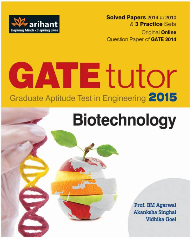 GATE Tutor - Biotechnology 2015 4th Edition