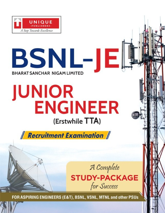 Best Book for BSNL TTA JE Exam Preparation