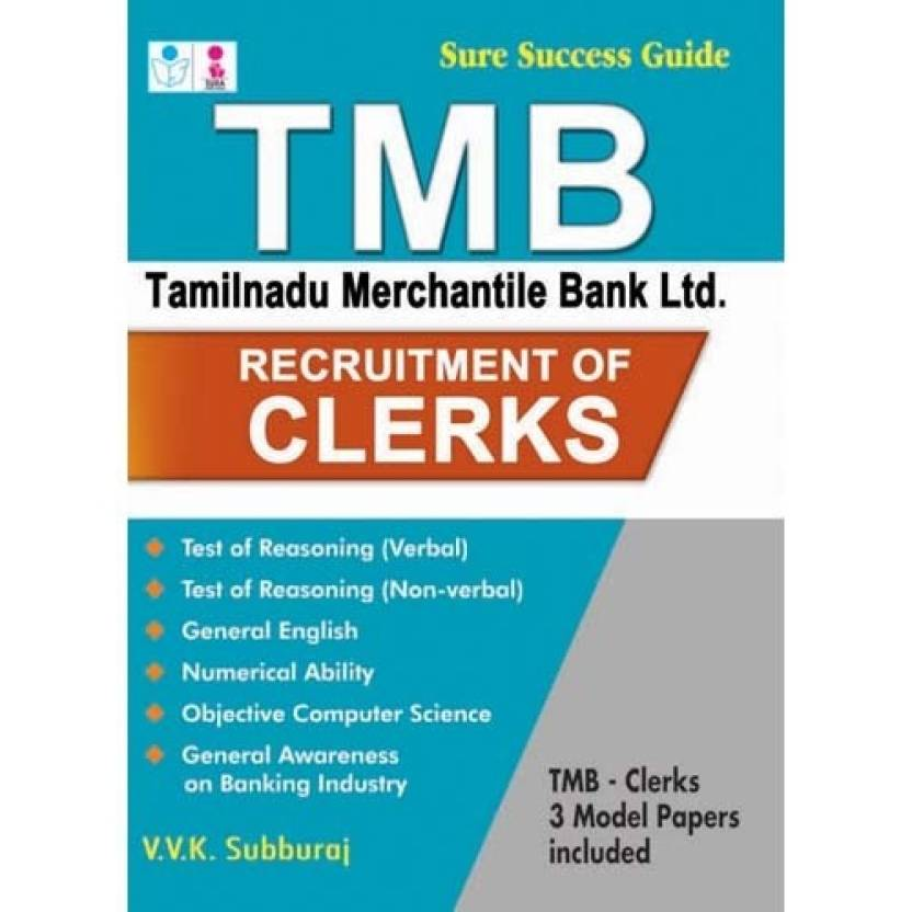 TMB TAMILNADU MERCANTILE BANK LTD Exam Book: Buy TMB