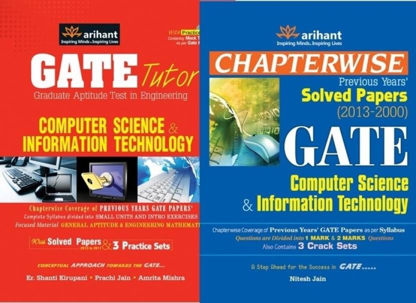 GATE Computer Science Guide & Solved Paper (Set of 2 Books