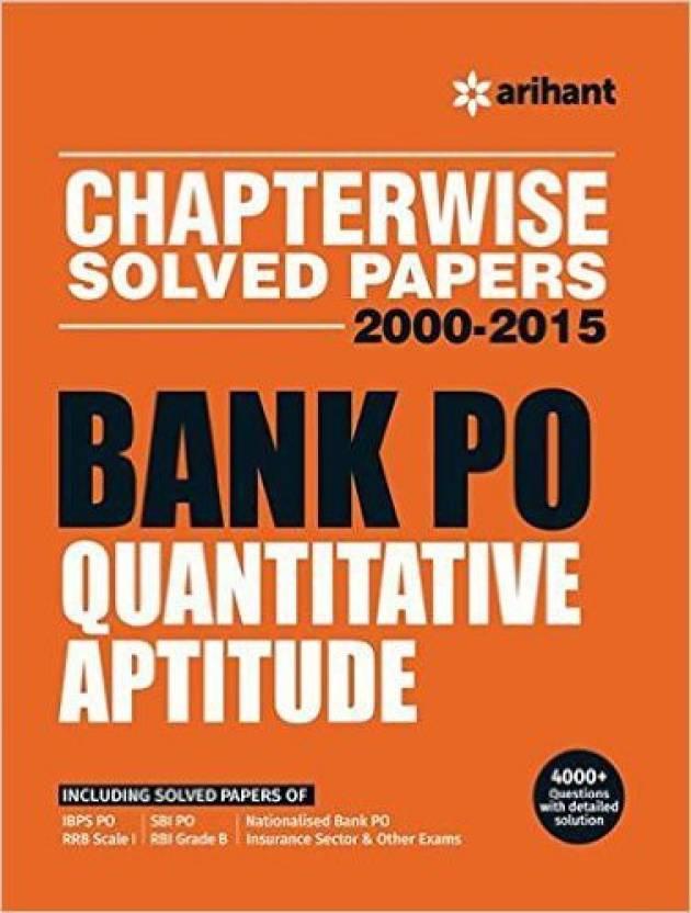 Chapterwise Solved Papers 2000-2015 Bank PO QUANTITATIVE APTITUDE