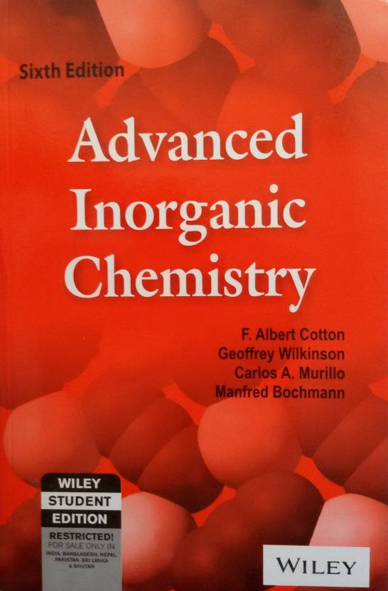 advanced inorganic chemistry th edition buy advanced inorganic  advanced inorganic chemistry 6th edition