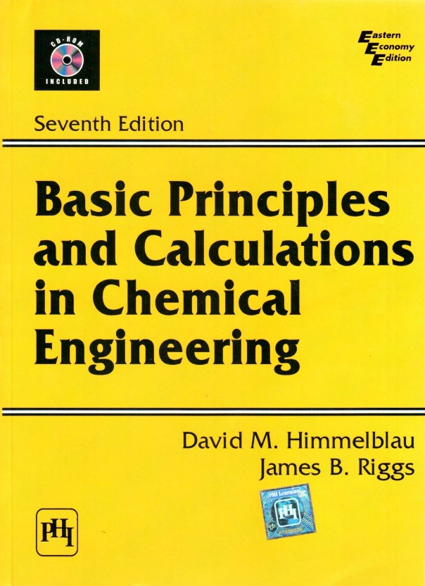 Basic Principles And Calculations In Chemical Engineering Book