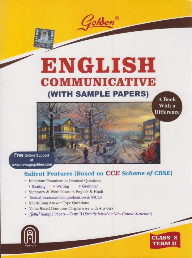 golden english communicative with sample papers term 2 class 10 rh flipkart com english golden guide for class 10 cbse online cbse 10th class english golden guide