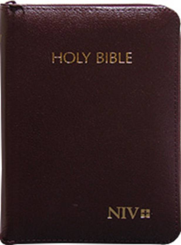 best service e901f 6b658 NIV Holy Bible Compact with Zip, Burgundy (BL) (english, bonded Leather, N,  A)