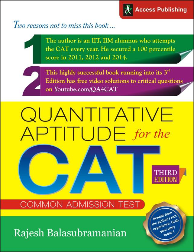 Quantitative Aptitude for the CAT 3 Edition: Buy Quantitative