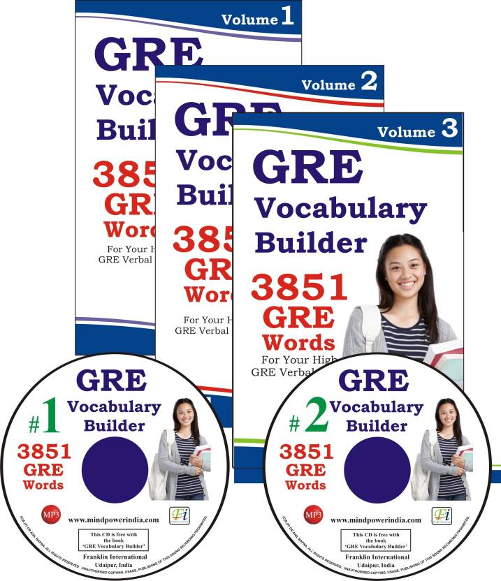 GRE Vocabulary Builder 3 Volumes with 2 MP3 CDs: 3851 GRE