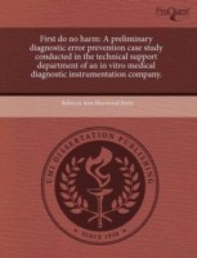 First do no harm: A preliminary diagnostic error prevention