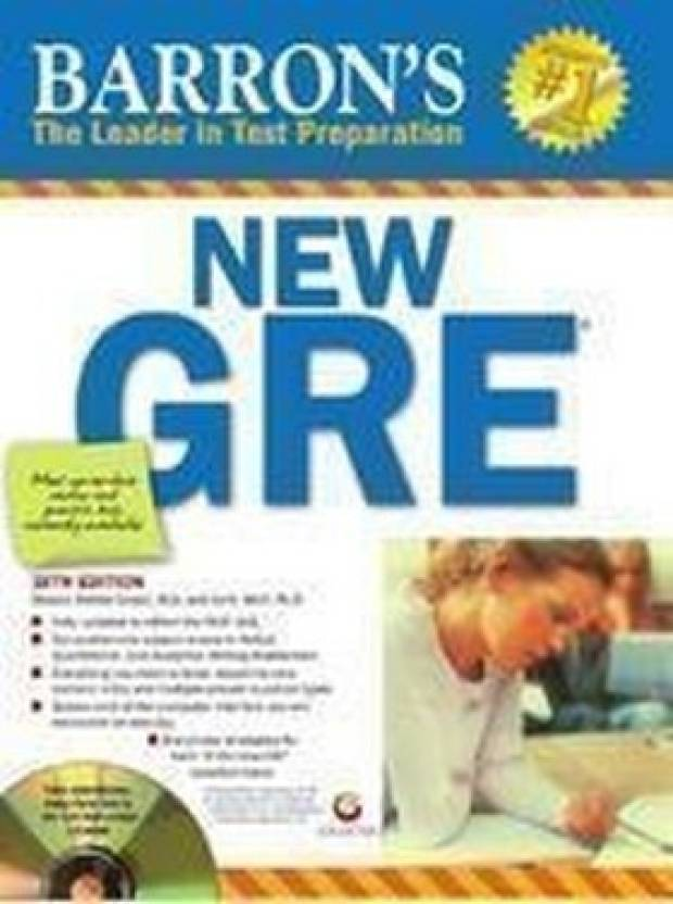 Barron's New GRE: The Leader in Test Preparation 2013 (With CD-ROM) 19th Edition