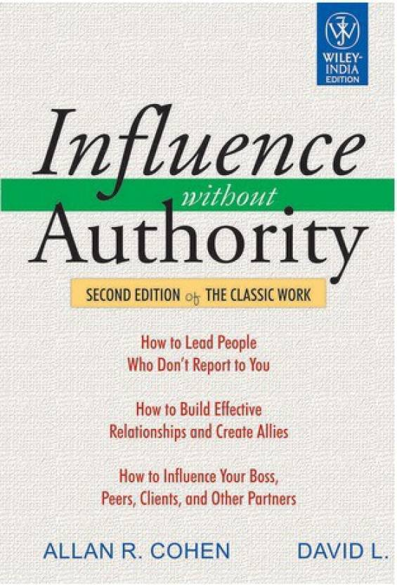 Influence Without Authority 2nd Edition Buy Influence Without