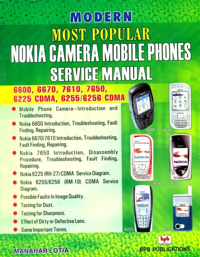 Modern Most Popular Nokia Camera Mobile Phones Service Manual 01