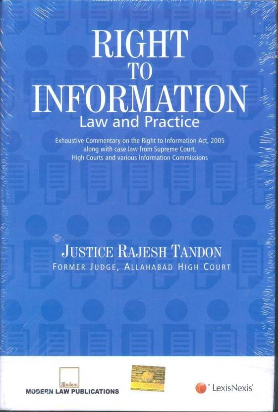 Right to Information law and Practice