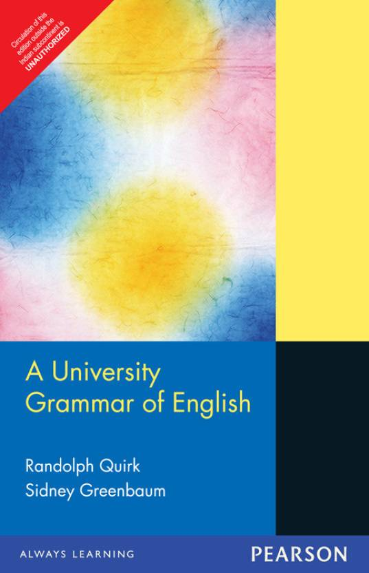 A University Grammar of English 1st Edition