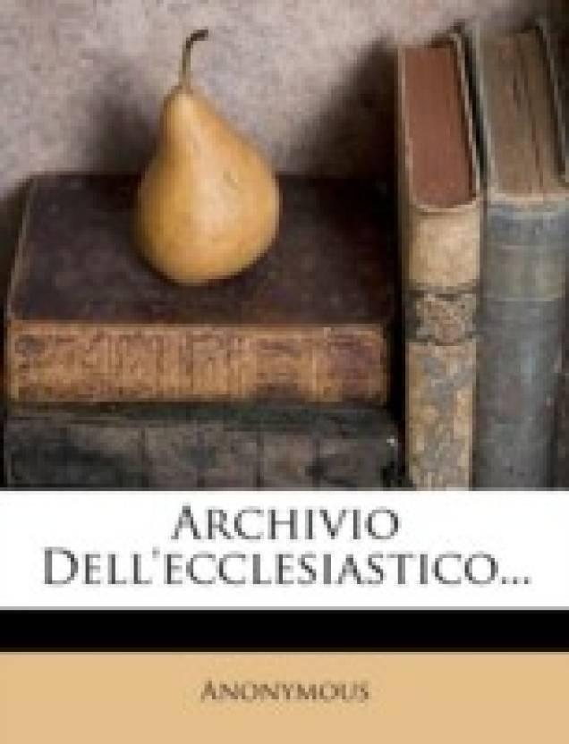Archivio Dell'ecclesiastico...