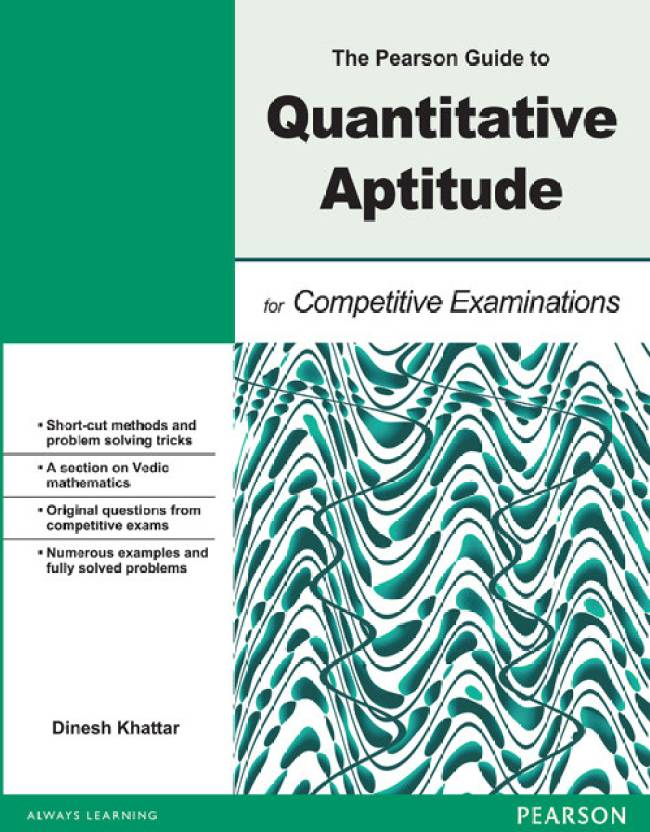 The Pearson Guide to Quantitative Aptitude for Competitive Examination 01  Edition
