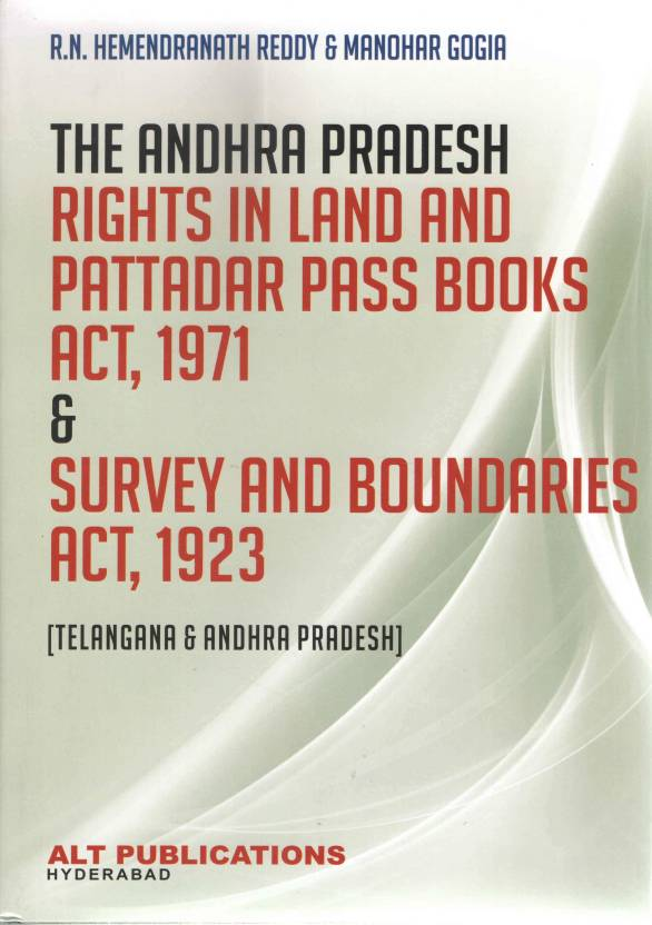 RIGHTS IN LAND AND PATTADAR PASS BOOKS ACT, 1971 & SURVEY