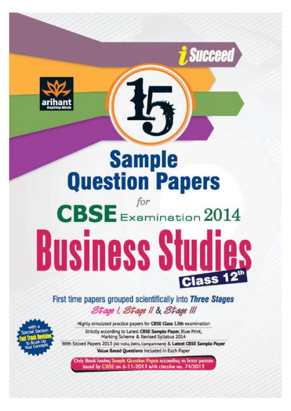 Cbse examination 2014 business studies 15 sample question papers cbse examination 2014 business studies 15 sample question papers class 12 2nd malvernweather Image collections