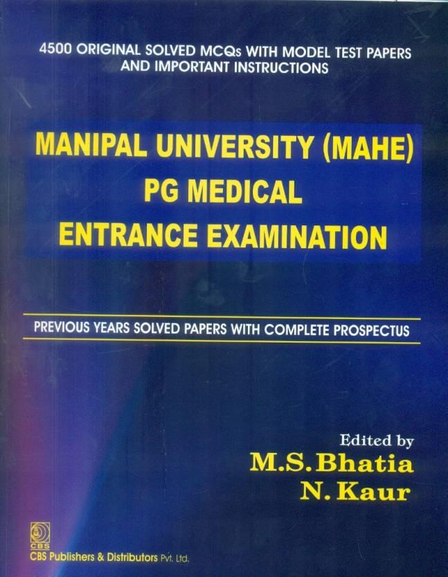 Manipal University (MAHE) PG Medical Entrance Examination 1