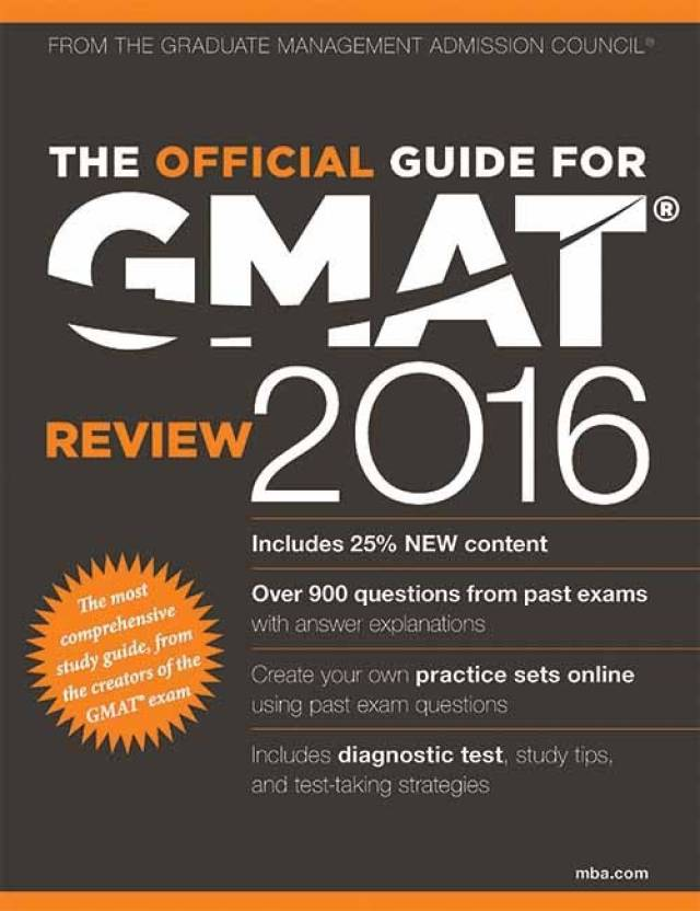 The Official Guide for GMAT Review 2016 1 Edition