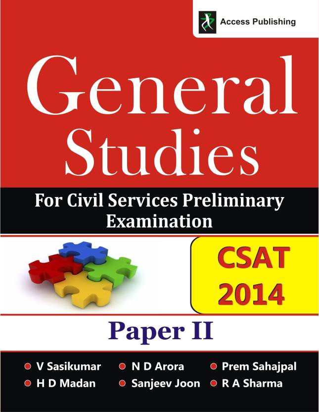 CSAT 2014 : General Studies for Civil Services Preliminary Examination Paper II 1st Edition