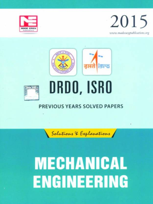 DRDO, ISRO Previous Years Solved Papers Mechanical Engineering