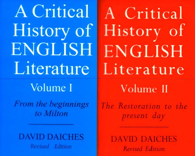 Critical history of english literature volume 1 and 2 combo critical history of english literature volume 1 and 2 combo pack by david fandeluxe Images