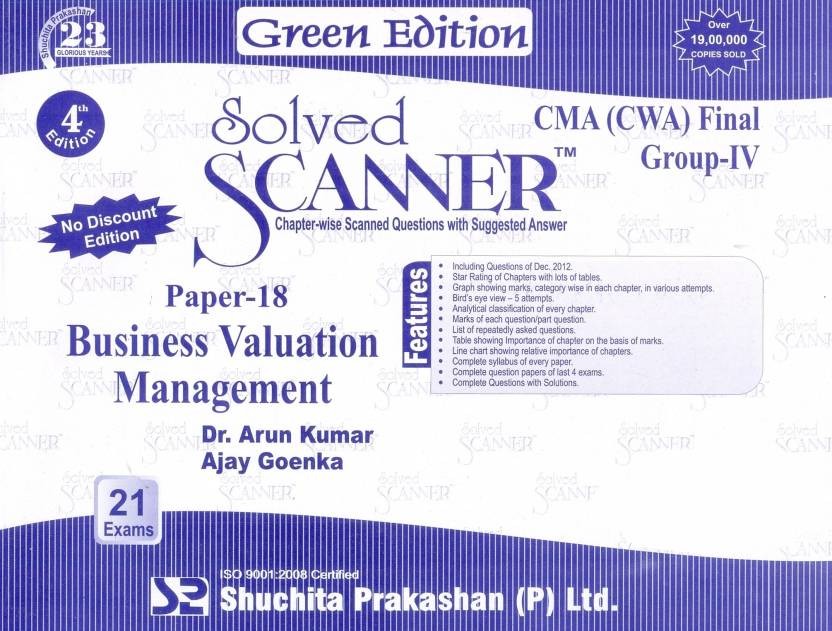 Solved Scanner Cma Cwa Final Group 4 Business Valuation Management