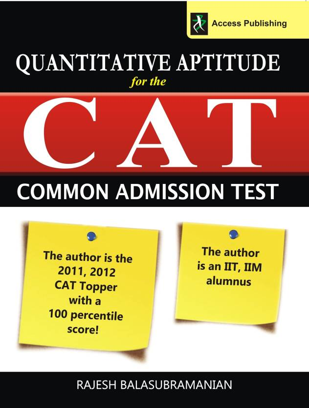 Quantitative Aptitude for the CAT 1st  Edition