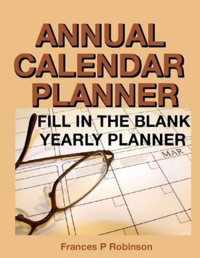 annual calendar planner fill in the blank yearly planner buy