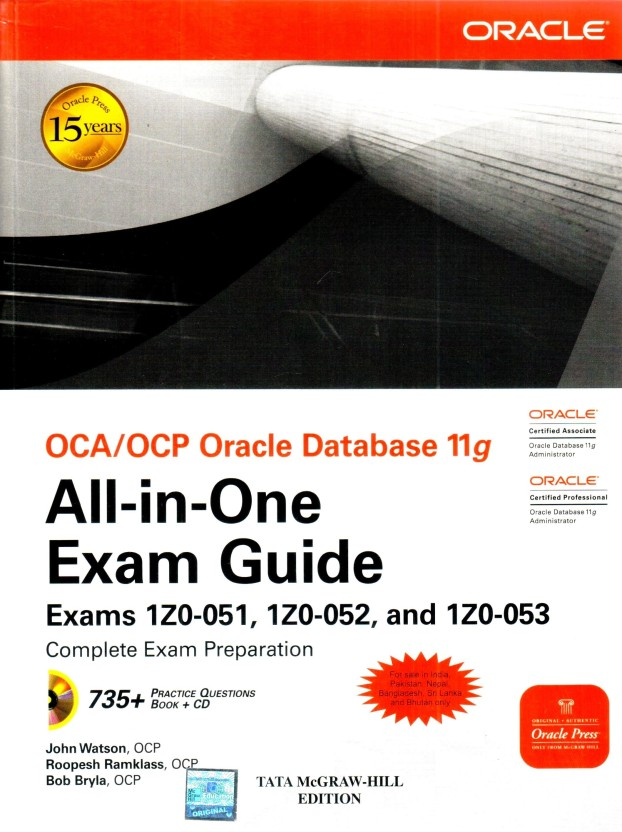 oca ocp oracle database 11g all in one exam guide with cd rom exams rh flipkart com Oracle 10G Database Oracle 10G Query