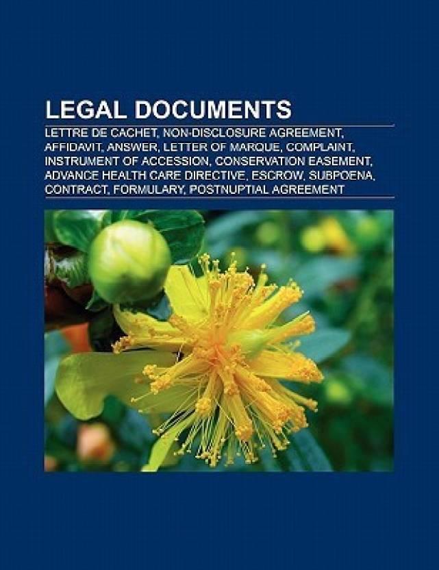 Legal Documents Lettre De Cachet Nondisclosure Agreement - Buy legal documents