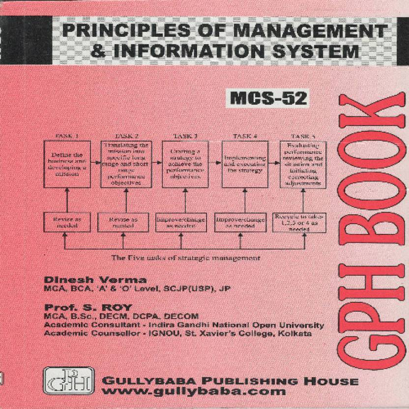 MCS-052 Principles of Management & Information Systems