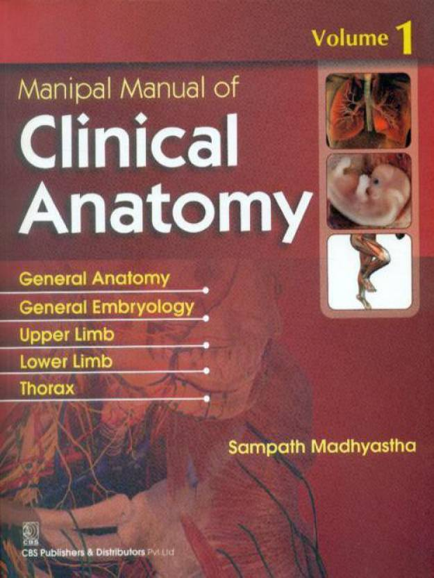 Manipal Manual of Clinical Anatomy, Volume 1 : General Anatomy ...