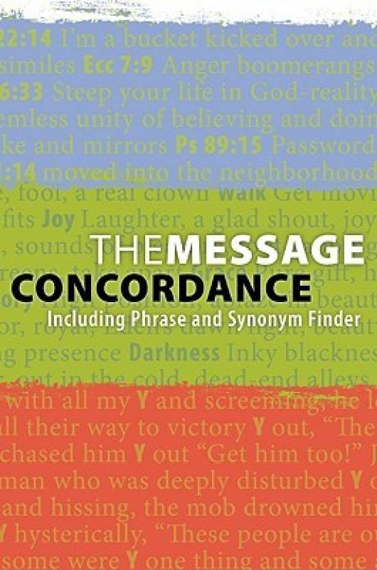 The Message Concordance: Including Phrase and Synonym Finder
