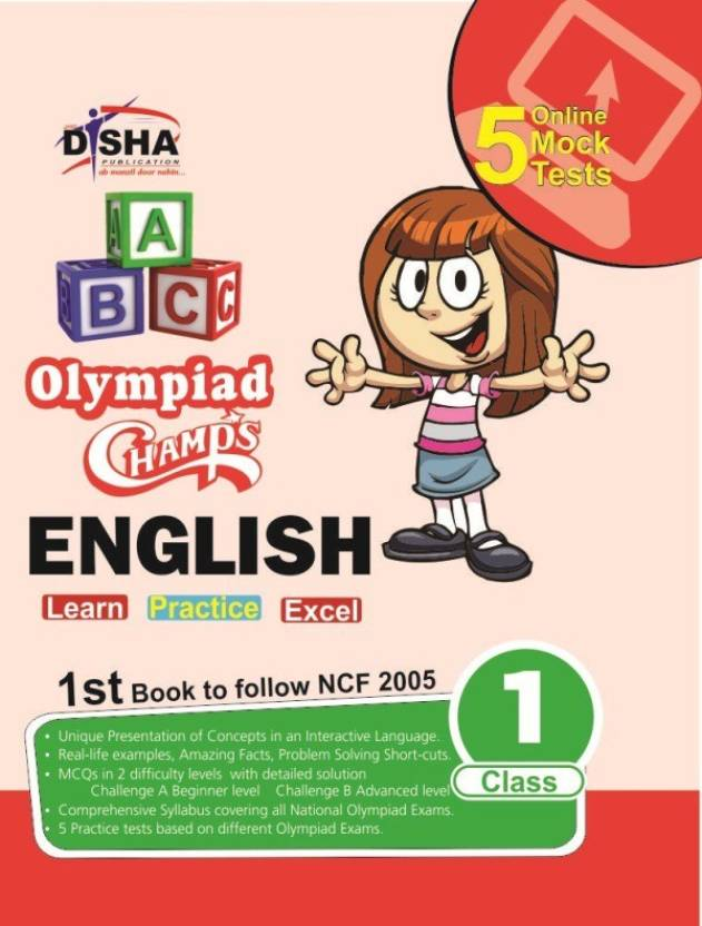 Olympiad Champs English Class 1 with 5 Mock Online Olympiad Tests 1st  Edition