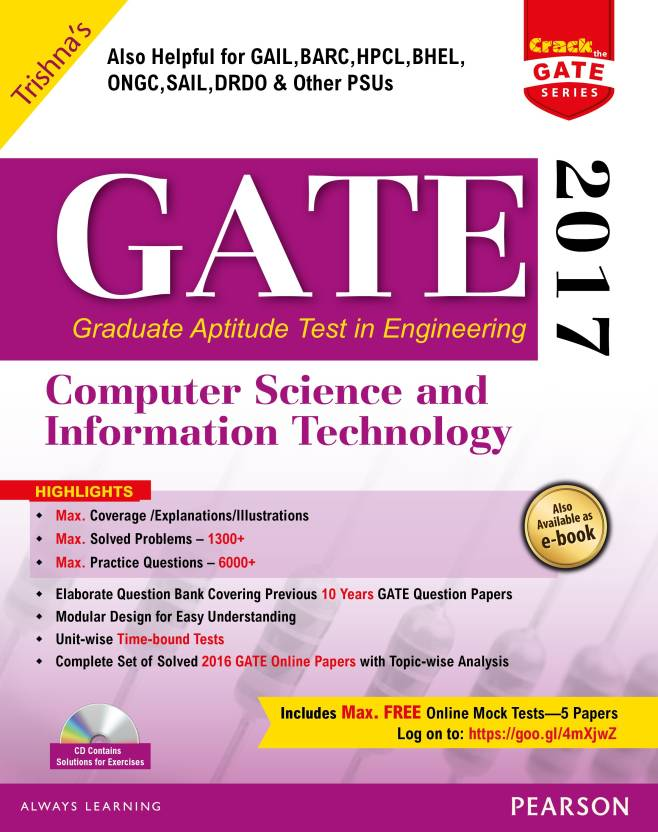 GATE Computer Science and Information Technology 2017 Edition