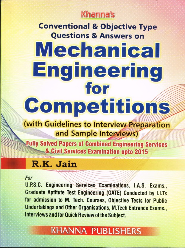Objective Mechanical Engineering By Rk Jain Pdf