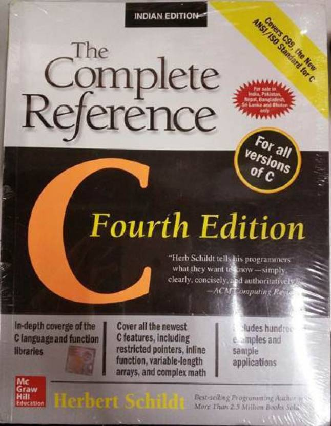 C: The Complete Reference 4th  Edition