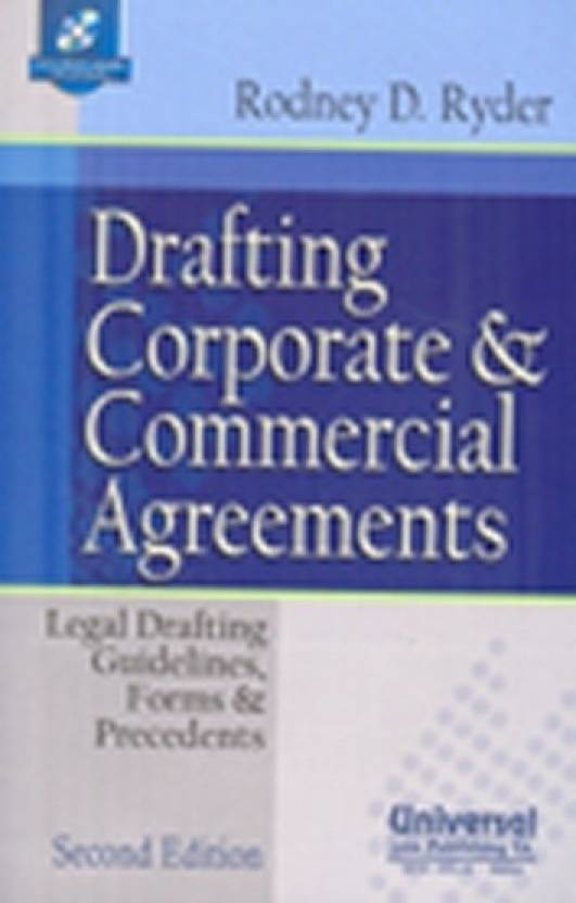 Drafting Corporate And Commercial Agreements Legal Drafting