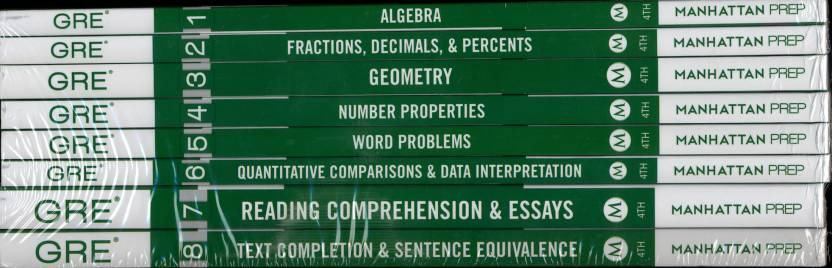 Manhattan Prep GRE Text Completion and Sentence Equivalence ( 8 Vol Set )